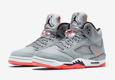 Jordan Retro 5 Grey Lava (GG - Lightly worn Jordan The fishnets have yellowing from age and me keeping them in the box. (Release Date: Jordan Shoes Sneakers Air Jordan Retro, Air Jordan Shoes, Nike Air Jordans, Womens Jordans, Retro Jordans, Jordans Girls, Sneakers Mode, Best Sneakers, Sneakers Fashion