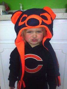 Chicago Bears Inspired Hat by DesignsbyAlison1 on Etsy, $26.00