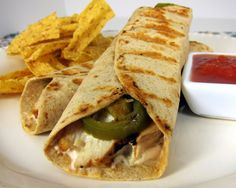 Chicken Popper Wrap - this can be made light if you use light cream cheese and a low cal tortilla/wrap.