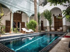 Riad Edward - Luxury Riad in Marrakech, Morocco. Book Riad Edward Today with Hip Marrakech - specialists in English Speaking Accommodation in Marrakesh, Morocco. Patio Interior, Interior And Exterior, Outdoor Spaces, Outdoor Living, Outdoor Decor, Best Riads In Marrakech, Marrakech Morocco, Morocco Hotel, Places