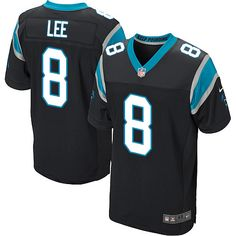 bfaed9689 Men s Nike Carolina Panthers  8 Andy Lee Elite Black Team Color NFL Jersey
