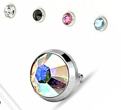 Flat Bottom Dome 316L Surgical Steel Dermal Anchor Top Assorted Package Set of 5 4mm by Body Accentz Dermal -- Awesome products selected by Anna Churchill
