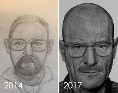 Artists Challenge Themselves To Redraw Their Old Drawings And The Results Are Fantastic