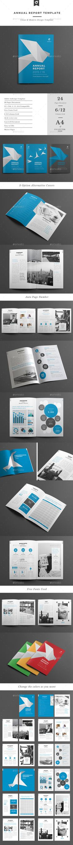 Annual Report Template - Corporate Brochure Template InDesign INDD. Download here: http://graphicriver.net/item/annual-report-template/12704622?s_rank=1779&ref=yinkira