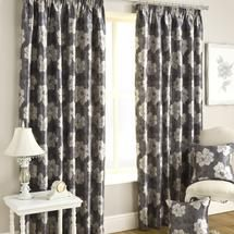 Charcoal Floral Trail Curtain Collection