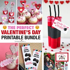 CUTE Valentines Day printables. This Valentine's Day Printable Bundle is full of the MOST POPULAR Valentines for kids, teachers and anyone you love!