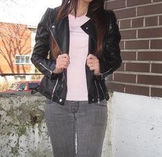 Black Long Sleeve Zipper PU Crop Jacket -SheIn(Sheinside)