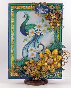 Celebrate Peacock Card by Candy S. - Cards and Paper Crafts at Splitcoaststampers