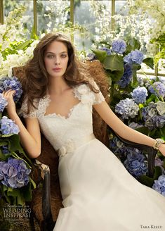 Tara Keely Wedding Dress... I've never seen one more elegant with the sweetheart lace neckline. breathtaking.