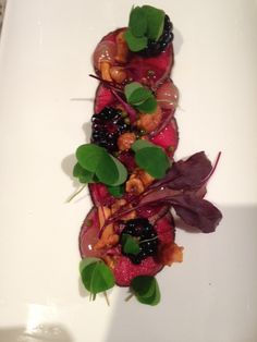 Winning dish - Carpaccio of venison, flavours and textures of autumn
