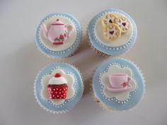 24 Glaseado Pastel Cupcake Fairy toppers decorations Manzana Roja Gracias Profesor