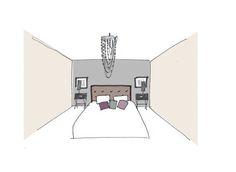croquis chambre romantique moderne