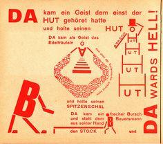 Kurt Schwitters – German DADA.  Edited a Magazine called Merz edited with El Lissitzky