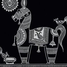 Phad Painting, Worli Painting, Fabric Painting, Madhubani Art, Madhubani Painting, Kalamkari Painting, Indian Folk Art, Indian Art Paintings, Art N Craft