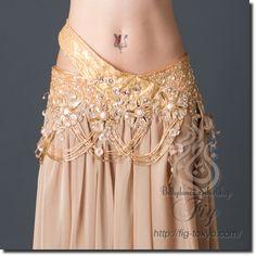Bella ベリーダンス衣装 一体型 / Gold(90be1511-01)