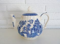 Blue Willow James Sadler of England Teapot by JosephineMarchons, $30.00