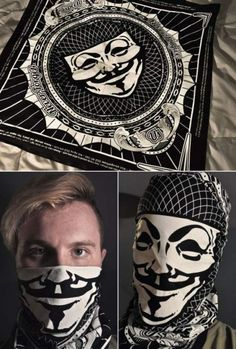 Guy Fawkes Scarf // This is actually pretty cool