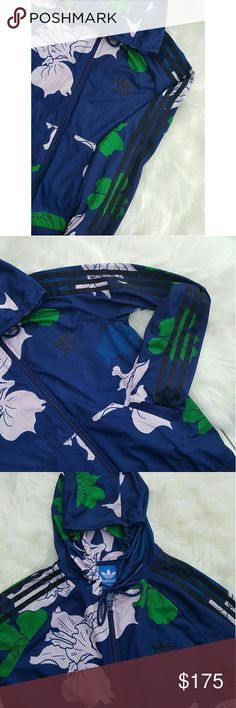 🔥NEW🔥Adidas Lightweight Floral Jacket! 👸Womens size: Small  🎀Unique blue floral and lavander pattern, two front pockets, and with black stripes on arms! Lightweight, not thick fabric.  😍Brand spanking new condition!  ❤Accepting only reasonable offers! Offer away! adidas Tops Sweatshirts & Hoodies