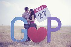 cute save the date via love