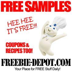 ►► FREE Pillsbury Samples - FREE Pillsbury Coupons and Recipes ►► #Coupons, #Food, #FREESample ►► Freebie-Depot