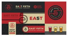 East Fifth Brewing Company logo and branding guide. Craft beer and packaging design #blindtiger