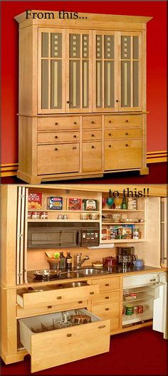 kitchen in a cupboard - so clever
