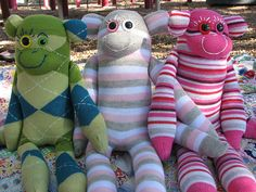 Make sock monkeys for children who have lost homes in the Texas wildfires this summer through Craft Hope.
