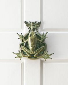 Frog & Bee Door Knocker - DARK GREEN - - Amazon.com
