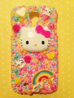 Kitty Tropical Rainbow Kawaii Decoden Deco Case. Can by sorayraya, £23.99