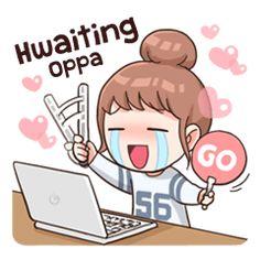 I love KPOP - Stickers dos criadores Kpop Stickers, Korean Stickers, Kawaii Stickers, Cute Stickers, Korean Phrases, Korean Words, V Chibi, Cute Chibi, Anime Chibi