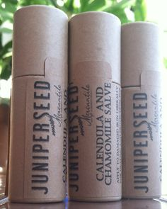 Calendula and Chamomile Healing Salve - Packaged in Compostable Recyclable Paper Tube Ecofriendly
