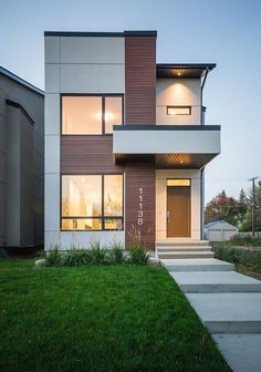 Below are the Modern House Minimalist Design. This post about Modern House Minimalist Design was posted under the Home Design … Modern Small House Design, Modern Minimalist House, Small Modern Home, House Front Design, Tiny House Design, Modern Design, Minimalist Design, Modern Homes, Modern Townhouse