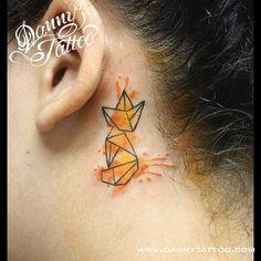 Raposa #dannytattoobsb #fox #raposa #tatuagemraposa #foxtattoo #aquarela…