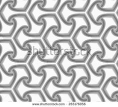 Seamless geometric pattern. Gray abstract geometrical design. Flat monochrome design.Monochrome striped offset tetrapods.