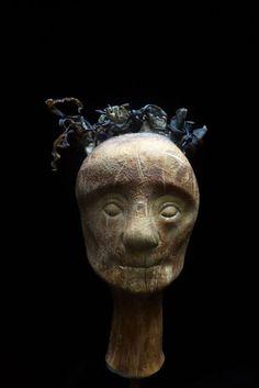 Head by František Skála Mystery, Lion Sculpture, Skull, Statue, Canvas Art, Sculptures, Art, Skulls, Sugar Skull