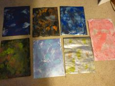Next round of Gelli plate papers--Yeah