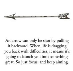Arrow With Quote Tattoo Design