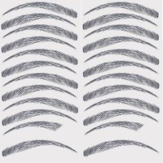 Godefroy My Brows Temporay Eyebrow Transfers, Low Arch-Medium Brown False Eyebrows, Arched Eyebrows, Eye Brows, Eye Makeup Art, Eyebrow Makeup, Eyebrow Tips, Beauty Makeup, Eyebrows Step By Step, How To Make Eyebrows