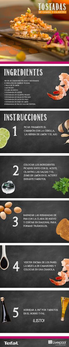 Dale un toque único a tu comida preparando unas deliciosas Tostadas de Gamba y Cilantro. ¡Te van a adorar! http://bit.ly/1GLe82o
