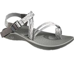Chaco Fantasia Sandal size: 8 color: gray and white $90