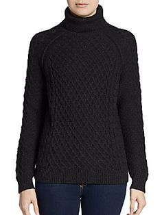 Vince - Cable-Knit Turtleneck #Saks OFF 5TH Wish & Win Contest