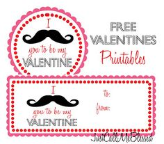 I mustache you to be my Valentine free printable