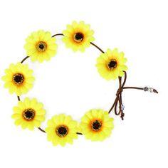 Yoins Pastoral Wreath Tying Headband in Sunflower