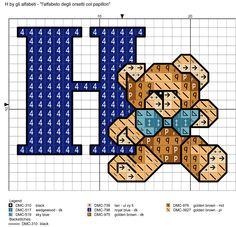 Alfabeto degli orsetti col papillon: H