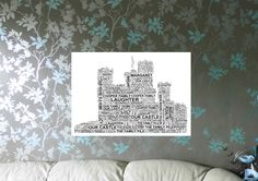 Castle - Personalised Word Art Print. FREE UK P&P. Family/New Home, Parents/Grandparents gift, Anniversary, Wedding. - pinned by pin4etsy.com