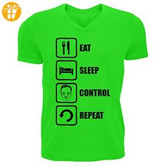 House Of Cards Inspired Eat Sleep Control Repeat Men's V-Neck T-shirt Medium (*Partner-Link)