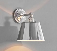 PB Classic Straight Arm Sconce - Tapered Metal Shade | Pottery Barn