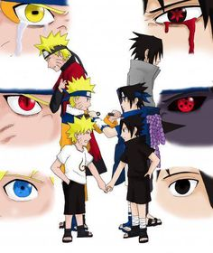 Really cools when i saw the Naruto's ayes in Sage Mode and Sasuke's mangekyou