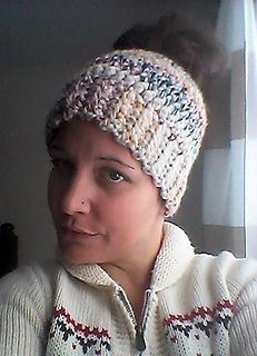 True North messy bun hat---bulky yarn