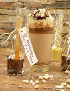 Diese kleine Schokolade am Stiel liegen voll im Trend. Diese Geschenkidee ist schnell und einfach zubereitet. Hier findet ihr viel verschiedene Variationen.